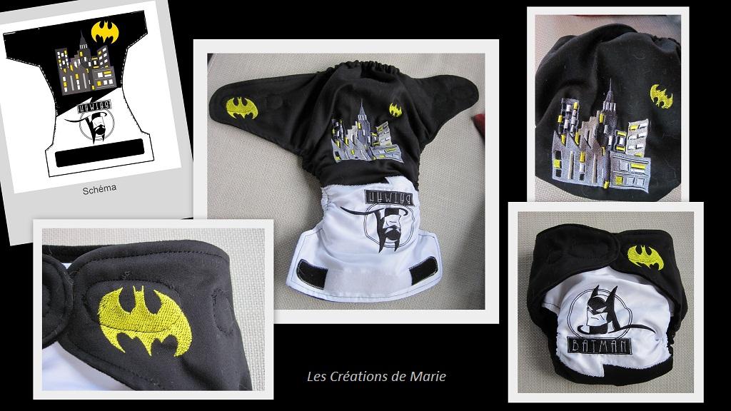 te1 couche lavable Batman