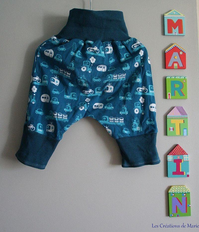 modele couture sarouel bebe
