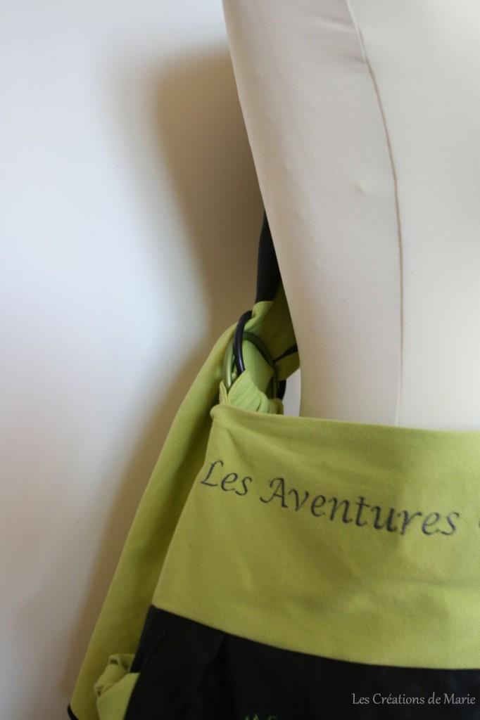 sac de portage à anneaux - vert et anthracite