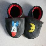 Chaussons fusée et lune