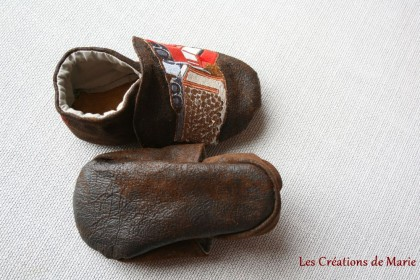 chaussons cuir souple camion