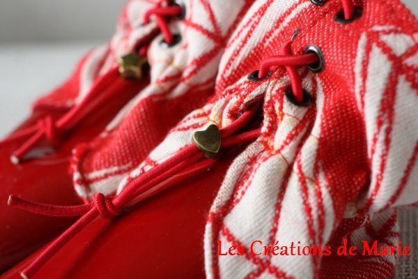 Bottines en cuir et Little Poppy